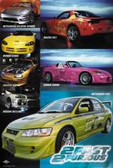 Fast Furious Cars Movie Poster At Dangerzone Collectibles - 2 fast 2 furious cars