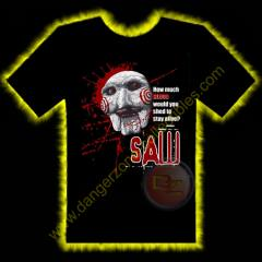 Saw Puppet Horror T-Shirt by Rotten Cotton