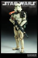 Star Wars Sandtrooper Squad Leader Figure by Sideshow Collectibles.