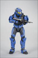 HALO Reach Series 3 Spartan Military Police Custom Male Blue Figure
