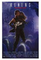 Aliens Sigourney Weaver Movie Poster.