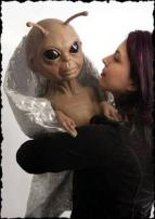 Alien Baby Puppet by Bump In The Night Productions.