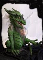 Green Dragon Puppet by Bump In The Night Productions.