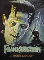 Frankenstein Movie Poster Boris Karloff European Version