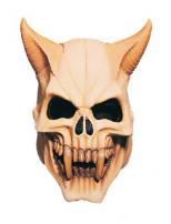 Devil Skull Adult Full Overhead Deluxe Latex Mask by Rubie's.