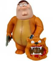 "Family Guy Series 5 Figure ""Peter Griffin"" as Gary The No Trash Cougar by MEZCO."