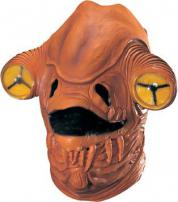 Star Wars Full Overhead Deluxe Latex Admiral Ackbar Mask by Rubie's.