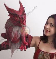 Red Dragon Puppet by Bump In The Night Productions.