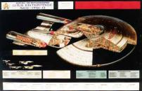 Star Trek Cutaway U.S.S Enterprise Movie Poster