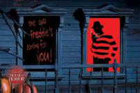 A Nightmare On Elm St Freddy Krueger Window Silhouette Decal by Rubie's