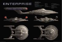 Star Trek U.S.S Enterprise Movie Poster