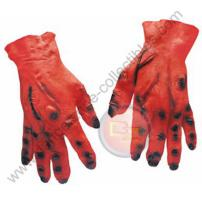Red Soft Skin Adult Rubber Monster Hands by Rubie's.