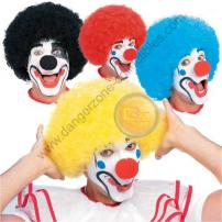 Black Coloured Clown Wig by Rubie's.