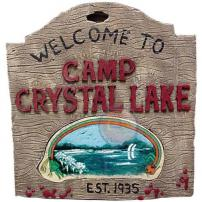 "Friday The 13th, Jason Voorhees ""Camp Crystal Lake"" Sign by Rubie's."