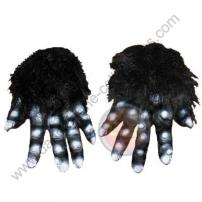 Black Hairy Adult Soft Skin Rubber Monster Hands by Rubie's