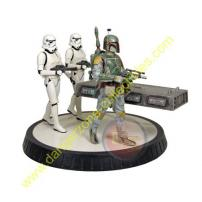 Star Wars Boba Fett & Han Solo In Carbonite Statue by Gentle Giant.