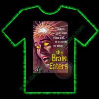The Brain Eaters Horror T-Shirt by Fright Rags - EXTRA LARGE