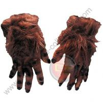 Brown Hairy Adult Soft Skin Rubber Monster Hands by Rubie's