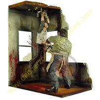 Cinema Of Fear Series 2 Screen Grabs Leatherface Diorama by MEZCO.