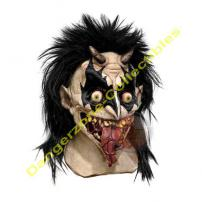 Demonic Plague Adult Deluxe Latex Mask by Rubie's.