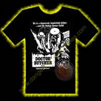Dr Butcher M.D. Horror T-Shirt by Rotten Cotton - LARGE