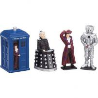 Doctor Who The Doctor, Tardis, Cyberman & Davros 4pc Set