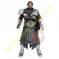Assassin's Creed Brotherhood Ezio Figure in Unhooded Onyx Outfit by NECA