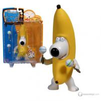 "Family Guy Series 6 Figure ""Banana Brian"" by MEZCO."