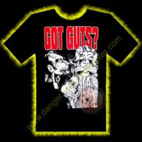 Got Guts Horror T-Shirt by Rotten Cotton - LARGE