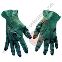 Dark Green Adult Soft Skin Rubber Monster Hands by Rubie's