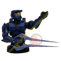 HALO 3 Master Chief Mini Bust (Blue) by Gentle Giant