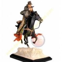 Indiana Jones Harrison Ford On Horse Statue by Gentle Giant.