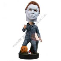 Halloween Michael Myers Hand Painted Resin Bobble Head Knocker by NECA.