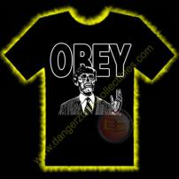 Obey Horror T-Shirt by Rotten Cotton - LARGE
