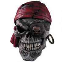 Pirate Skull 3/4 Overhead Deluxe Latex Mask by Rubie's.