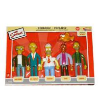 The Simpsons Set Of 5 Bendy Power Plant Figures