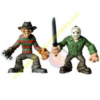Cinema Of Fear Tiny Terrors Freddy & Jason Figures by MEZCO.