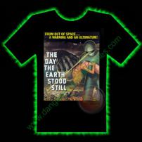 The Day The Earth Stood Still Horror T-Shirt by Fright Rags - LARGE