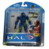 HALO Anniversary Series 1 Advance Spartan Recon Blue Figure
