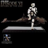Star Wars Scout Trooper & Speeder Bike Statue by Gentle Giant