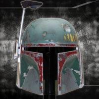 Star Wars Scaled Replica Boba Fett Helmet by Master Replicas.