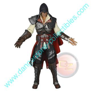 Assassin's Creed II Ezio Action Figure in Black Outfit by NECA