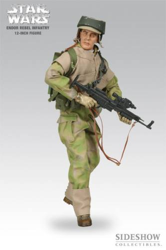Star Wars Endor Rebel Infantry Figure by Sideshow Collectibles.