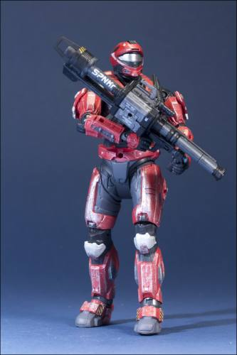 HALO Reach Series 6 Spartan Recon Male (Red) Figure by McFarlane