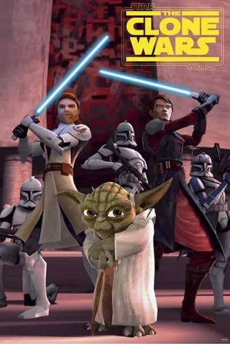Star Wars The Clone Wars (D) Movie Poster