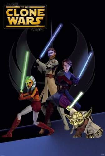 Star Wars The Clone Wars (B) Movie Poster