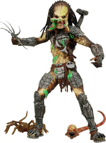 Alien vs Predator 2 Requiem Unmasked Battle Damaged Predator Figure.