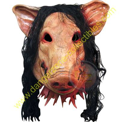 SAW Pig Full Overhead Adult Latex Mask