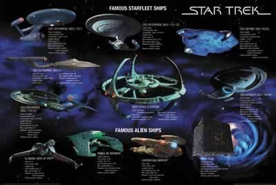 Star Trek Famous Starfleet Ships Poster