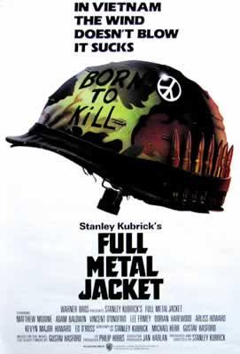 Stanley Kubrick's Full Metal Jacket Movie Poster